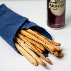 Another great Italian appetizer, grissini or breadsticks can be served with prosciutto or just by itself as a snack.  Extremely good and very easy to make.