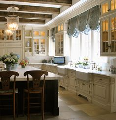French Country Kitchen Decor Ideas Inspired by The Enchanted Home - Hello Lovely Country Kitchen Designs, French Country Kitchens, Country French, Kitchen Interior, Kitchen Decor, Kitchen Post, Kitchen Ideas, Nice Kitchen, Kitchen Inspiration