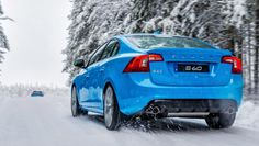 Rear shot of Volvo S 60 Polestar. Polestar Performance Optimisations offer increased mid-range engine performance in combination with supporting changes for the gearbox and throttle response to make the car more dynamic and responsive to drive.