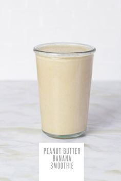 Peanut Butter Banana Smoothie To make it, blend together:  2 frozen bananas 2 tablespoons natural peanut butter 1 cup unsweetened milk (nut, soy, animal) 1/2 cup plain Greek yogurt Honey or maple syrup, to taste