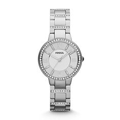 Fossil Womens ES3282 Virginia ThreeHand Stainless Steel Watch ** You can get additional details at the image link.
