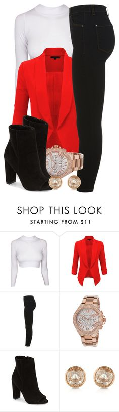 """""""2 13 16"""" by miizz-starburst ❤ liked on Polyvore featuring LE3NO, Miss Selfridge, Michael Kors, Steve Madden, women's clothing, women, female, woman, misses and juniors"""