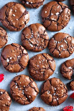 Salted Brownie Cookies | brownie cookies | brownie cookies recipes