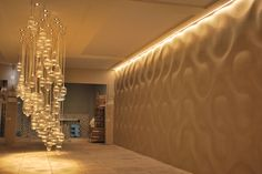 Architectural concrete and Panels designed with the intention of creative play with form and light. You can make your interior one of a kind, individually aranging a chosen model. 3d Panels, Decorative Panels, 3d Wall, Concrete, Curves, Curtains, Architecture, Interior, Model