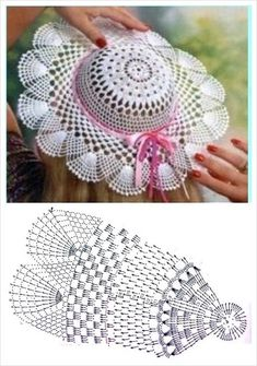 Diy Crafts - It is a website for handmade creations,with free patterns for croshet and knitting , in many techniques & designs. Crochet Beret Pattern, Crochet Flower Patterns, Crochet Motif, Crochet Doilies, Crochet Flowers, Crochet Lace, Crochet Stitches, Filet Crochet, Crochet Summer Hats