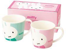Dick Bruna Miffy pair mug cup set with box cute pink green