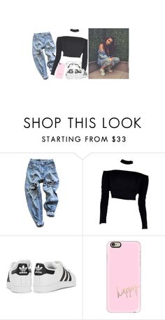 """""""First impressions // clarissa x"""" by xaccidentprone ❤ liked on Polyvore featuring Levi's, adidas Originals, Casetify, ZeroUV and clichesbachelor2017"""