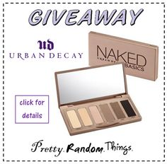Urban Decay NAKED Basics GIVEAWAY (open) | Pretty.Random.Things.