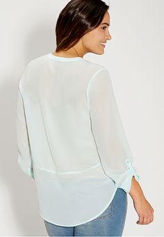 the perfect plus size blouse with high-low hem - maurices.com