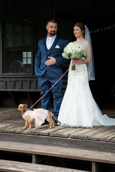 Walking down the isle with this cute dog
