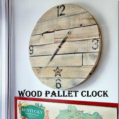 Wood Pallet Clock