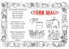 #tutumyatırımveyerlimalıhaftası #belirligünvehaftalar #boyamasayfaları Activities For Kids, Crafts For Kids, Turkey Holidays, National Holidays, Slogan, Preschool, Bullet Journal, Printables, Education