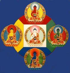 Into the Wildfire — windhorse: Five Dhyani Buddhas Gautama Buddha, Buddha Art, Tibetan Buddhism, Spiritual Life, Tantra, Photo Illustration, Deities, Religion, Ear Reflexology