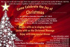 Little Flock Christian Fellowship - 2013 Christmas Service.  Dec 21