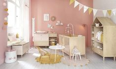 Round Pink Cotton Rug with Gold Spots and Tassels on Maisons du Monde. Take your pick from our furniture and accessories and be inspired! Teen Furniture, Hallway Furniture, Small Furniture, Dining Room Furniture, Dining Furniture, Baby Bedroom, Nursery Room, Miffy Lampe, Childrens Wardrobes