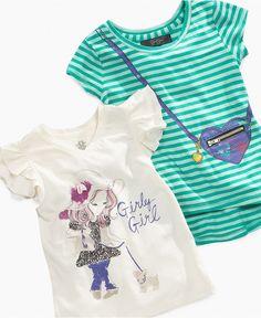 Cute tees! Jessica Simpson Kids T-Shirt, Little Girls Girly Graphic Tees - Kids Girls 2-6X - Macy's $15.75 #MacysBTS