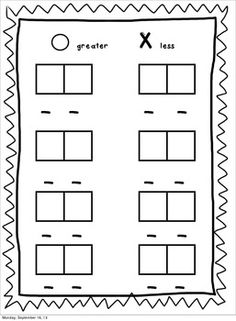 Freebie - Greater Than, Less Than, Equal To Domino Center
