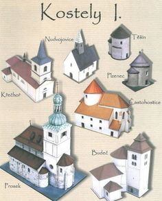 Several Church Paper Models Free Templates Download - http://www.papercraftsquare.com/several-church-paper-models-free-templates-download.html#1150, #BuildingPaperModel, #Church