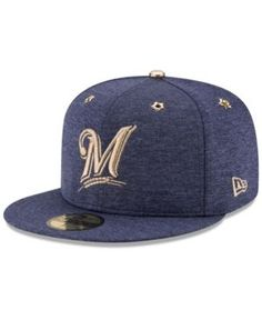 277d15c4159 New Era Boys  Milwaukee Brewers 2017 All Star Game Patch 59FIFTY Fitted Cap  - Blue
