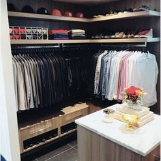 Top 100 Best Closet Designs For Men - Part Two How To Organize Your Closet, Build A Closet, Walk In Closet Design, Closet Designs, Master Closet, Closet Bedroom, Master Bedroom, Mens Closet Organization, Bedroom Organization