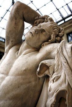 Sleeping faun, Louvre Museum, Paris I.