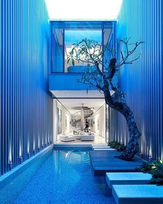 Stepping stones! 55 Blair Road by Ong & Ong Located in Singapore  Derek Swalwell #restlessarch - Architecture and Home Decor - Bedroom - Bathroom - Kitchen And Living Room Interior Design Decorating Ideas - #architecture #design #interiordesign #homedesign #architect #architectural #homedecor #realestate #contemporaryart #inspiration #creative #decor #decoration