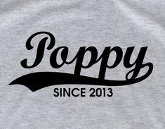 Poppy shirt  grandpa shirt daddy shirt  Personalized t by lptshirt, $14.95