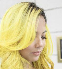 Yellow Hair Dye, Hair Dye Colors, Pastel Yellow, Hair Colour, Pastel Colors, Diy Your Hair, Coloured Hair, Dye My Hair, Pastel Hair
