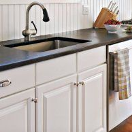 Redesigning Your Kitchen Area: Choosing Your New Kitchen Counter Tops – Outdoor Kitchen Designs Soapstone Kitchen, Soapstone Countertops, Outdoor Kitchen Countertops, Kitchen Cabinets, Kitchen Counters, White Cabinets, Kitchen Backsplash, Slate Kitchen, Laminate Countertop