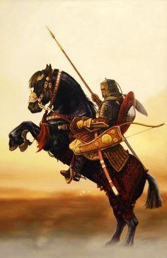 Warrior by Rusian Smorodinov - oil on canvas