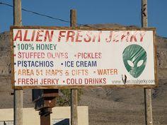 Rachel Nevada Extraterrestrial Highway Area 51 2007 Roads Signs