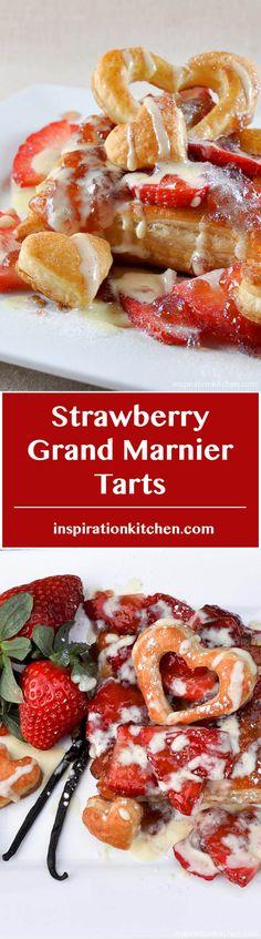 Strawberry Grand Marnier Tarts - inspirationkitchen.com