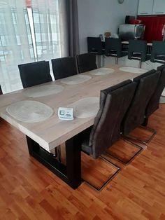 Masa lemn masiv stil scandinav cu scaune piele Conference Room, Dining, Modern, Shopping, Furniture, Home Decor, Dinner, Homemade Home Decor, Meal