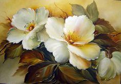 flores pintadas em telas - Pesquisa Google