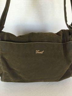 Fossil Messenger Crossbody Bag Olive Designer Fashion Hip Boho  #Fossil #MessengerCrossBody