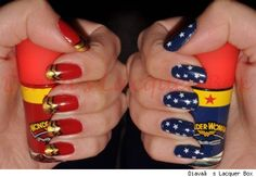 Superhero Manicures: Comic Strips at Your Finger Tips