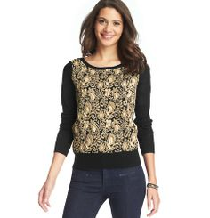 Brocade Sweater | Loft $69.50