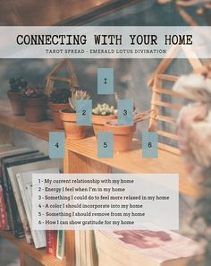 Connecting with Your Home Tarot Spread — Emerald Lotus Divination Tarot Card Spreads, Tarot Cards, Tarot Card Layouts, Wiccan Spell Book, Wicca Witchcraft, Magick Spells, Baby Witch, Free Tarot, Tarot Learning
