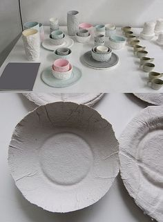 I dream, create and admire - Paper pulp ceramics, by Yvette Jacobs. NG X