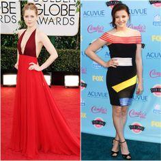 Amy Adams in Valentino vs. Chloë Moretz in Christopher Kane. Click through to vote!