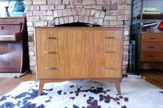 Retro Vintage Mid Century Compact Chest Of Drawers