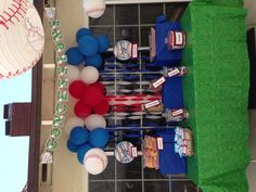 Baseball themed snack bar