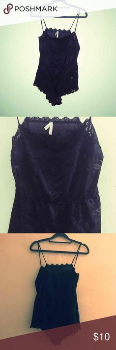 SPARKLE & FADE BLK ROMPER Worn once! Fits like a true medium! Sparkle & Fade Other