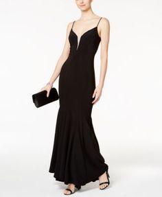 Betsy   Adam Illusion Mesh Mermaid Gown Women - Dresses - Macy s. Adam BlackMermaid  Evening ... c77cb56ee