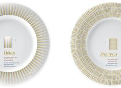 MYTHOLOGY collection decor:Helios and Dionysos Mythology, Plates, Tableware, Collection, Decor, Licence Plates, Dishes, Dinnerware, Decoration