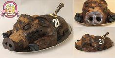 wild boar hunting cake