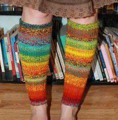 Rainbow Leg Warmers - free pattern