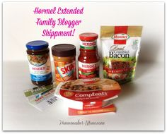 A peek in the Hormel Extended Family Blogger box! #hormelfamily