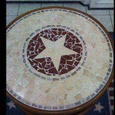 Texas Star Mosaic Table