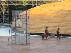Stage set for ancient Greek theatre in Syracuse, Syracuse, 2012 - OMA - Office for Metropolitan Architecture